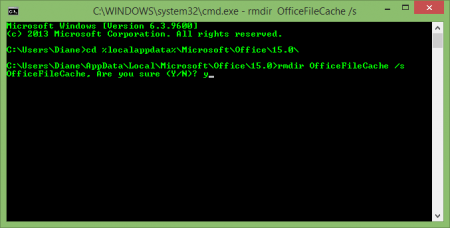 Delete the files using the Command Prompt