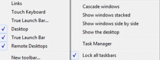 Create a taskbar toolbar