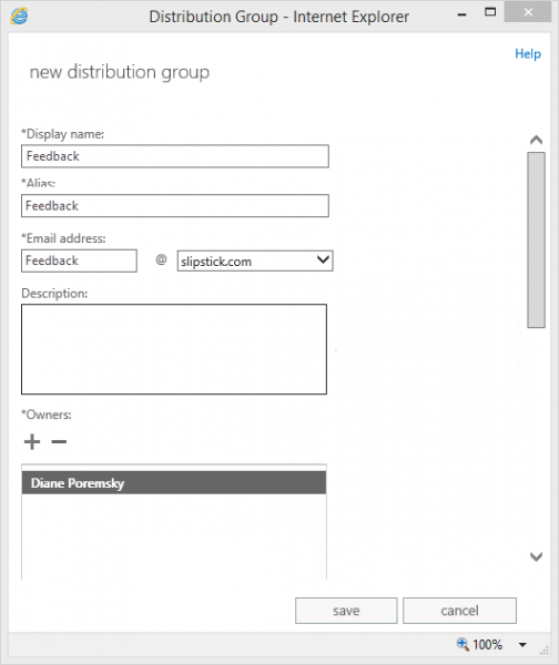 Create a new dl group